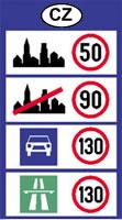 csehország sebesség határok